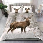 Deer Snow Forest Wild Life  Bedding Set Bedroom Decor