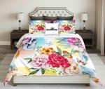 Tropical Flower And Skeleton  Bedding Set Bedroom Decor