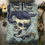 Raven Nest Skull Printed Bedding Set Bedroom Decor