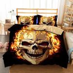 Skull Flame Super King  Bedding Set Bedroom Decor