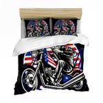 Motorbike Skull  Bedding Set Bedroom Decor