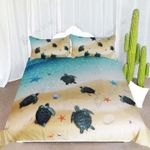 Sea Turtle In Ocean  Bedding Set Bedroom Decor