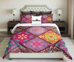 Geometric Pattern Bright Colour  Bedding Set Bedroom Decor