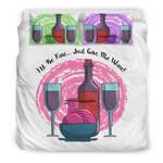 I'Ll Be Fine Just Give Me Wine BPrinted Bedding Set Bedroom Decor