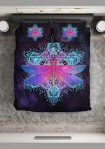 Galaxy Mandala Dragonfly Printed Bedding Set Bedroom Decor