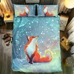 Fox Watching Snowflake  Bedding Set Bedroom Decor