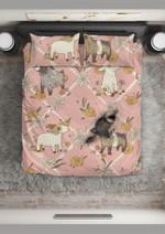 Lovely Goat Pink Patterns Printed Bedding Set Bedroom Decor