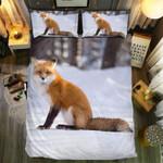 Lonely Fox White Background  Bedding Set Bedroom Decor