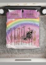 Rainbow Giraffe Group Bedding Set Bedroom Decor