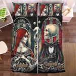 Skull And Beauty Bedding Set Bedroom Decor