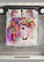 Watercolor Beautiful Unicorn  Bedding Set Bedroom Decor