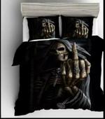 Skull Middle Hand Bedding Set Bedroom Decor