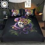 Purple Black Dragon Skull Printed Bedding Set Bedroom Decor