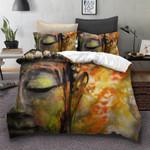 Stunning Face Of Buddha Tibetan Bedding Set Bedroom Decor