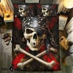 Pirate King Skull Printed Bedding Set Bedroom Decor