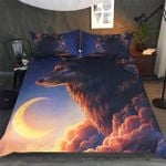 Premium Moon Night Wolf Bedding Set Bedroom Decor
