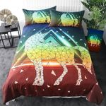 Geometric Unicorn 3D  Bedding Set Bedroom Decor