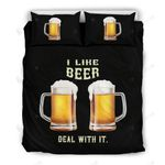 I Love Beer Deal With It 3D Bedding Set Bedroom Decor