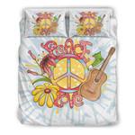 Love Peace Hippie 3D Bedding Set Bedroom Decor