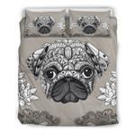 Grey Art Pug 3D Bedding Set Bedroom Decor