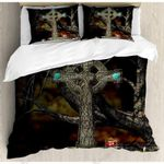 Cross Tree Grave Skulls Bedding Set Bedroom Decor