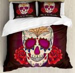 Cartoon Skull Flower Bedding Set Bedroom Decor