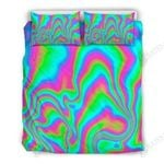 Abstract Psychedelic Trippy Bedding Set Bedroom Decor