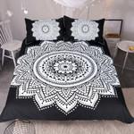Black and White Mandala Bedding Set Bedroom Decor