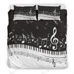 Classic Piano And Music Score Printed Bedding Set Bedroom Decor