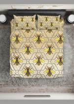 Bee  Yellow Glitter Bee Bedding Set Bedroom Decor