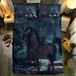 Black Unicorn Bedding Set Bedroom Decor