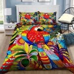 Clourful Parrot In Forest Drawing  Bedding Set Bedroom Decor