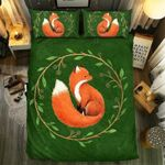 Circle Leaf Fox Bedding Set Bedroom Decor