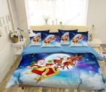3D Christmas Goodbye Santa Claus Printed Bedding Set Bedroom Decor