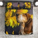 Basset Hound Sunflower Bedding Set Bedroom Decor