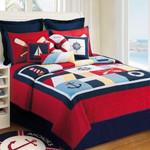 Beautiful Imagine Art Print Symbols Of Sail Away  Bedding Set Bedroom Decor