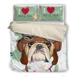 Bulldog Giving Dog Lover Bedding Set Bedroom Decor