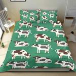 Cows Milk Cows In Various Positions  Bedding Set Bedroom Decor
