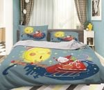 3D Christmas Party Gift Printed Bedding Set Bedroom Decor
