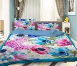 3D Bright Flowers Bedding Set Bedroom Decor