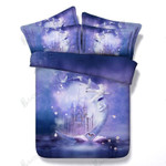 Customize Hd Printed Swan And Castle  Bedding Set Bedroom Decor
