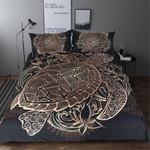 Boho Turtles Animal Golden Tortoise  Bedding Set Bedroom Decor