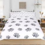 Clean Coral Design Printed Bedding Set Bedroom Decor