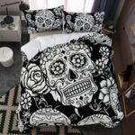 Black And White Day Of The Death  Bedding Set Bedroom Decor