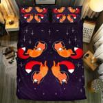 Cute Fox Flying In Space Bedding Set Bedroom Decor