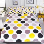 Colorful Dots Print Printed Bedding Set Bedroom Decor