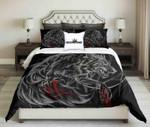 Bloody Werewolf On Black Background Design  Bedding Set Bedroom Decor