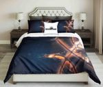 Abstract Basketball On Dark Background Design   Bedding Set Bedroom Decor