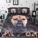 Bulldog Face Printed Bedding Set Bedroom Decor