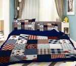 3D Cloth Stitching Patchwork Bedding Set Bedroom Decor